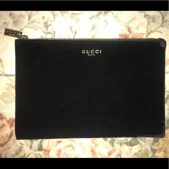 abd09f922a8b Gucci Bags   Black Velvet Cosmetic Makeup Bag Nwt   Poshmark